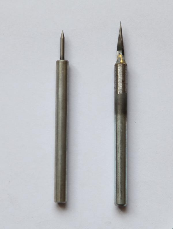 图2-2,用圆型和扁型刀头磨成的尖型刀.JPG