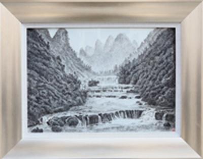 图3-12 丁邦海《黑水河暮色》刻瓷板 570mm×360mm.JPG