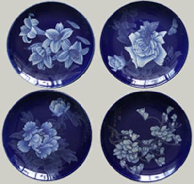 图3-96, 黄玉双 《花卉系列》刻瓷盘 直径200mm.jpg