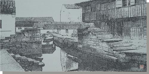 3、尹干《水乡系列之一》 瓷板刻瓷 580mm×1200mm.jpg
