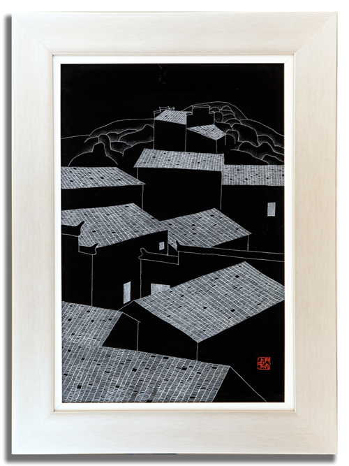 6、尹大中《夜思系列之一》瓷板刻瓷 400mm×600mm.jpg